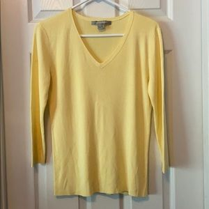 Ellen Tracy Yellow Sweater